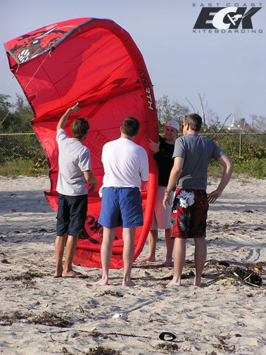 kiteboarding camp learning