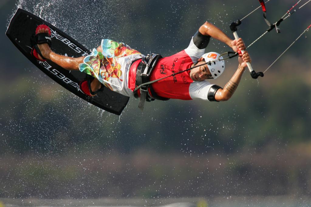 kiteboarding front flip