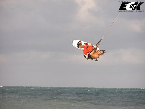 kiteboarding front roll
